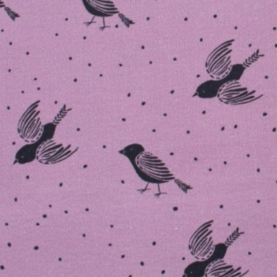 Jersey Summer-Sweat biologique · Birds And Dots Rose · Lillestoff Collection