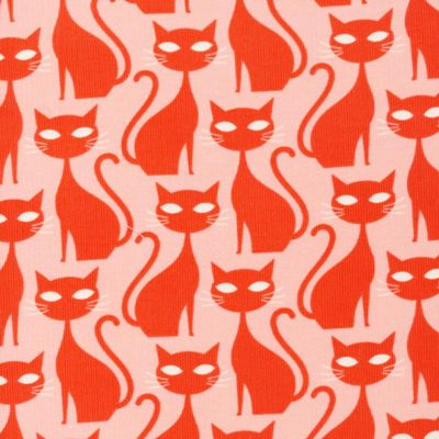Velours milleraies biologique · Orange tabby cat · A Walk Remembered Collection · Cloud9 Fabrics