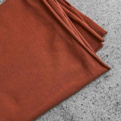 Jersey biologique stretch uni · Marron Sienna · Mind The Maker