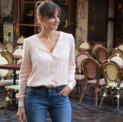 patron blouse thelma double gaze de coton
